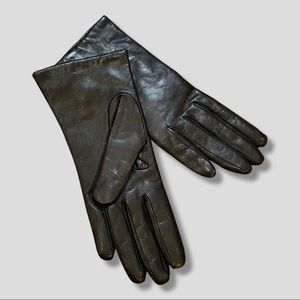NWT Neumann Marcus Cashmere lined leather gloves